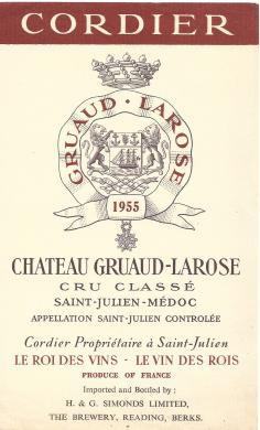 Chateau Gruaud Larose 1955 Simonds