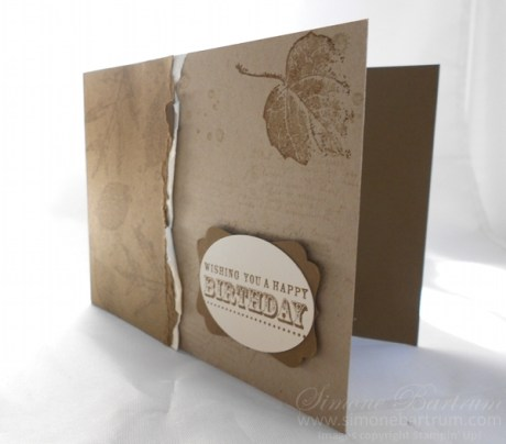 Tear-Front Layout featuring French Foliage stamp set