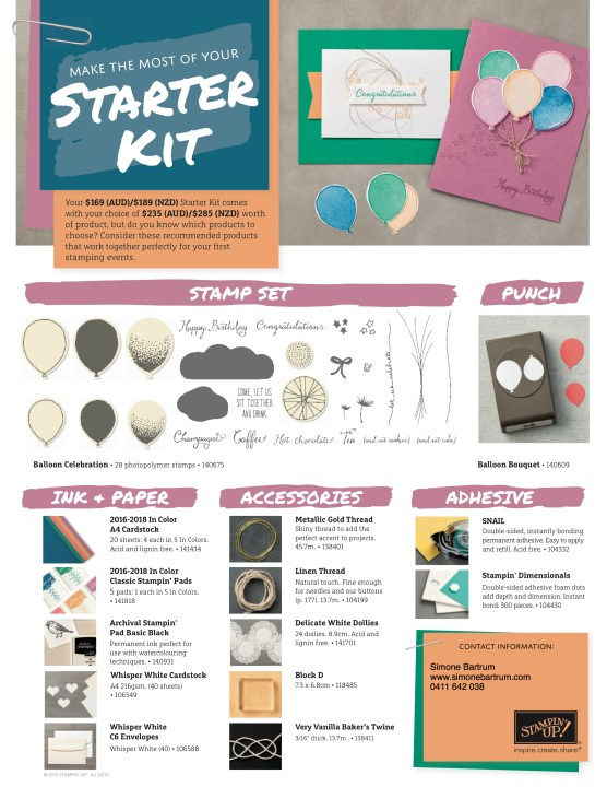 Get all this in your starter kit - only AUD$169 and no shipping!