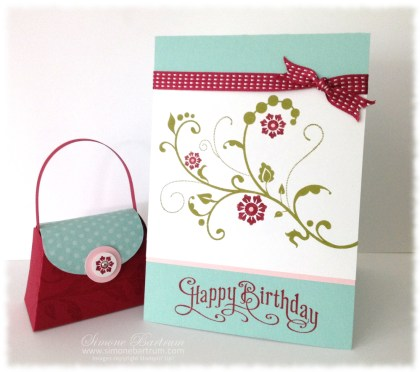Petite Purse and Flowering Flourishes card
