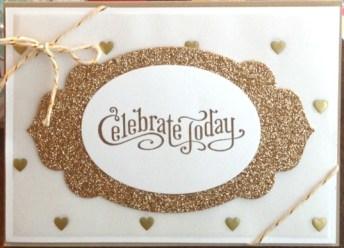 Champagne Glimmer Card