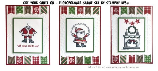 Get Your Santa On - Christmas cards (www.simonebartrum.com)