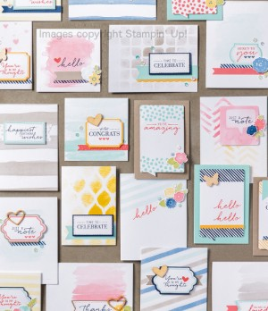 Watercolor Wishes card kit.