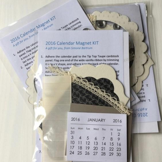 Giveaway over at www.simonebartrum.com. Win a mini calendar project kit.