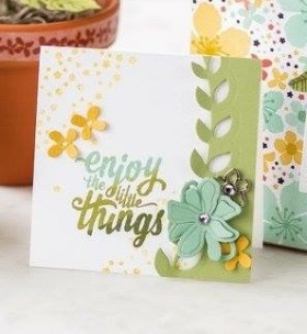 Botanical Builder dies and Enjoy The Little Things stamp set, all from Stampin' Up!.