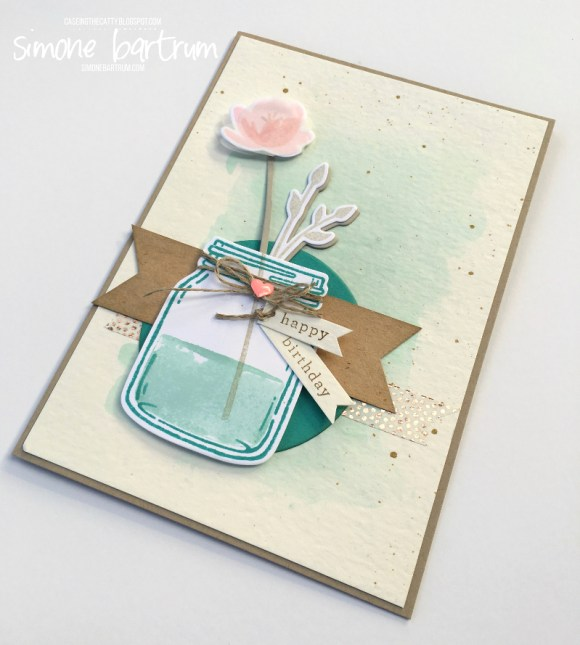 CTC 86: Everyday Occasions. This card features the gorgeous Stampin' Up! Jar of Love bundle of products - coordinating stamp set and dies. www.simonebartrum.com