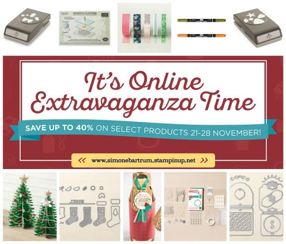 Online Extravaganza - November 2016. Stampin' Up! Australia, Simone Bartrum