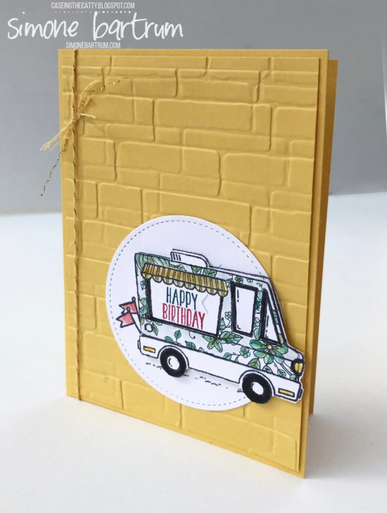 CTC117 Tasty Trucks Happy Birthday card