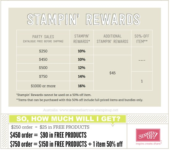 stampin up catalogue australia June Host Special