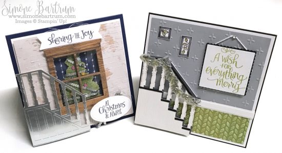 Stampin' Up! staircase: Christmas Staircase Thinlits dies (www.simonebartrum.com)