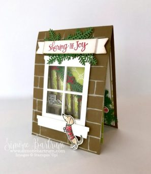 Stampin' Up! staircase: Ready for Christmas staircase stamp set and framelit bundle (www.simonebartrum.com)