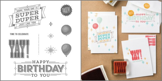 Super Duper stamp set by Stampin' Up!