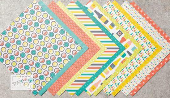 Bubbles & Fizz Designer Series Paper - Sale-a-bration exclusive, by Stampin' Up!