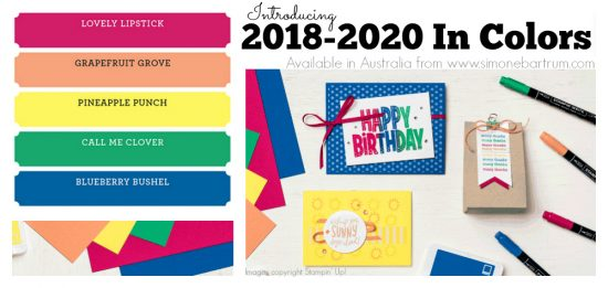 Stampin' Up! Colour Revamp - The 2018-2020 In Colors