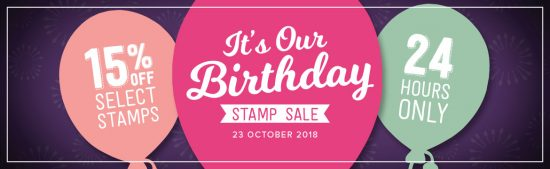 Happy 30th birthday Stampin' Up! - 15% off Select Stamps