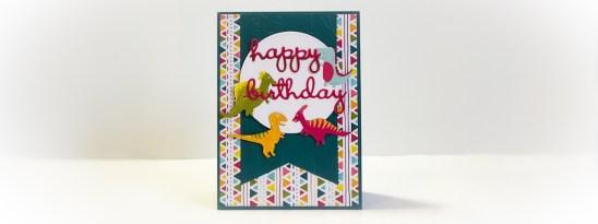 Dinoroar Fussy Cut Card