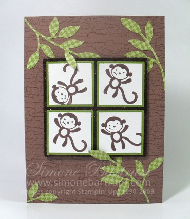 Fox & Friends card - Cheeky Monkeys!