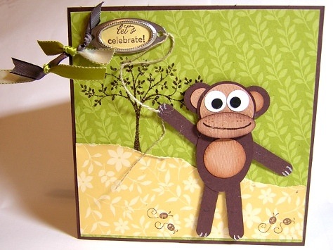 Punch Art Monkey Card