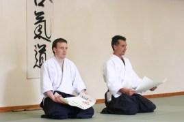 2007 - Donegal (Ireland) - Giving Aikikai Certificates