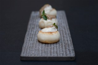 Mochi: sedano rapa/gorgonzola/acciuga/menta