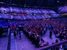 The fan pit & golden circle area, with behind that: the 'regular' standing places, Ahoy was sold out!