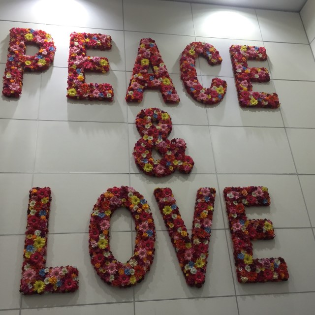 Art on the wall in the Miami Airport!!!