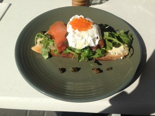 Open Salmon Sandwich