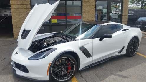 Corvette hood up