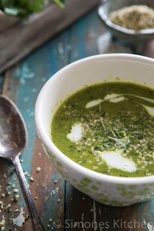 Whole30 broccoli spinazie soep   simoneskitchen.nl