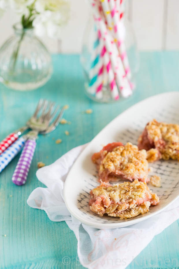 Rabarber crumble taart | simoneskitchen.nl