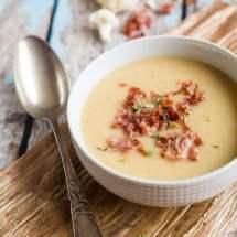 Bloemkool soep met gebakken spek | simoneskitchen.nl