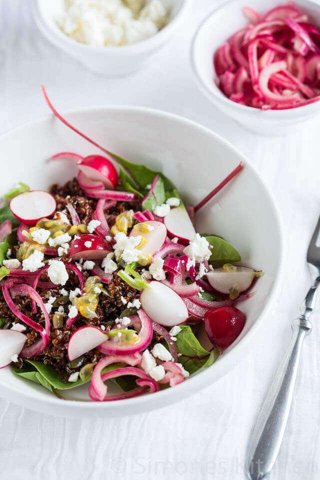 Quinoa salade met feta | simoneskitchen.nl