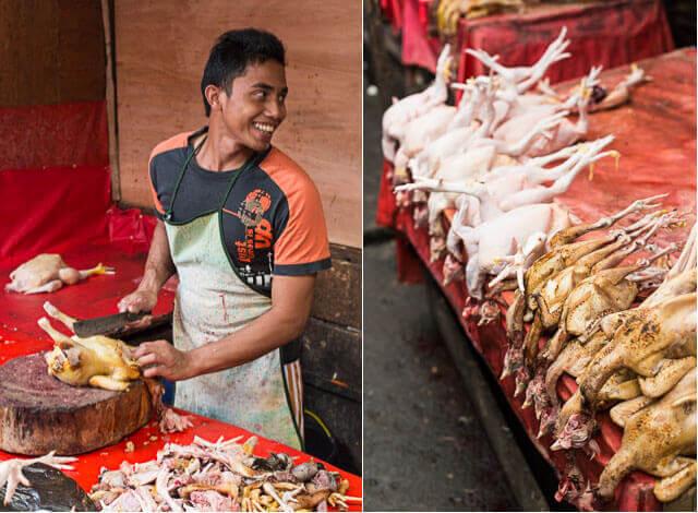 Kippen slachten op de markt in Takengon | simoneskitchen.nl