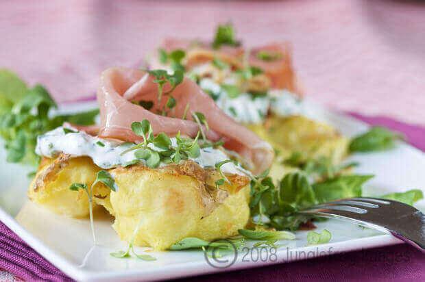 Aardappels met kruiden roomkaas en prosciutto | simoneskitchen.nl