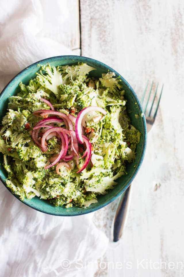 Broccoli salad met amandel | simoneskitchen.nl