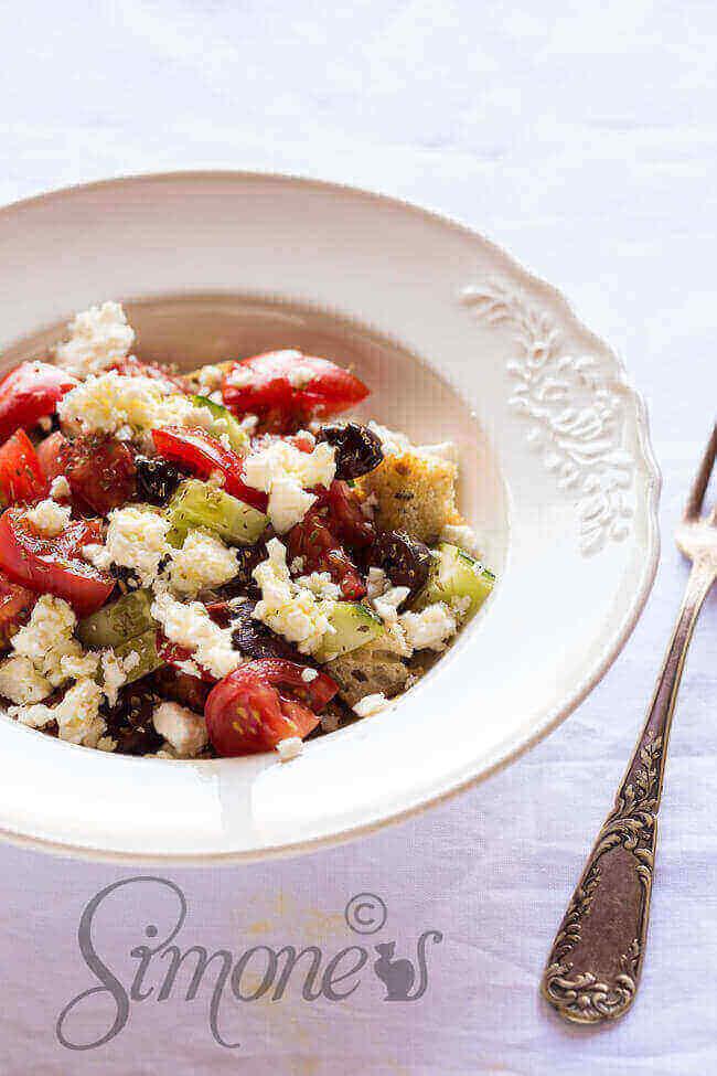 Griekse salade | simoneskitchen.nl