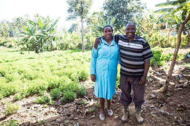 Eliphas Kimathi en zijn vrouw