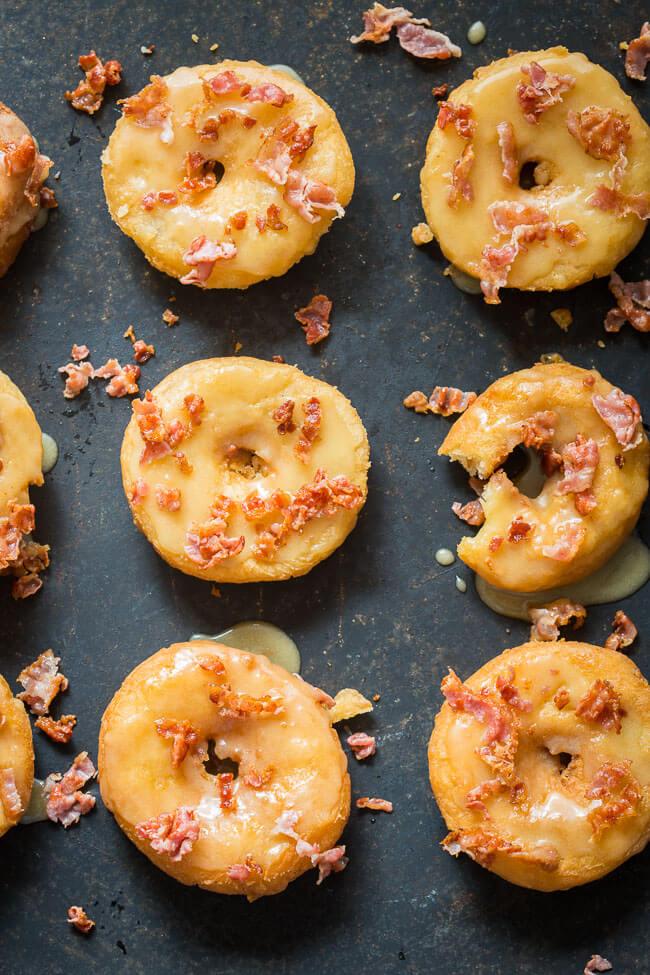 Donuts met ahornsiroop en bacon | simoneskitchen.nl