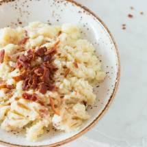 Bloemkool aardappelpuree met bacon | simoneskitchen.nl