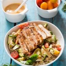Quinoa salade met gegrilde courgette | simoneskitchen.nl