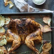 Piri piri kip met geroosterde aardappeltjes | simoneskitchen.nl