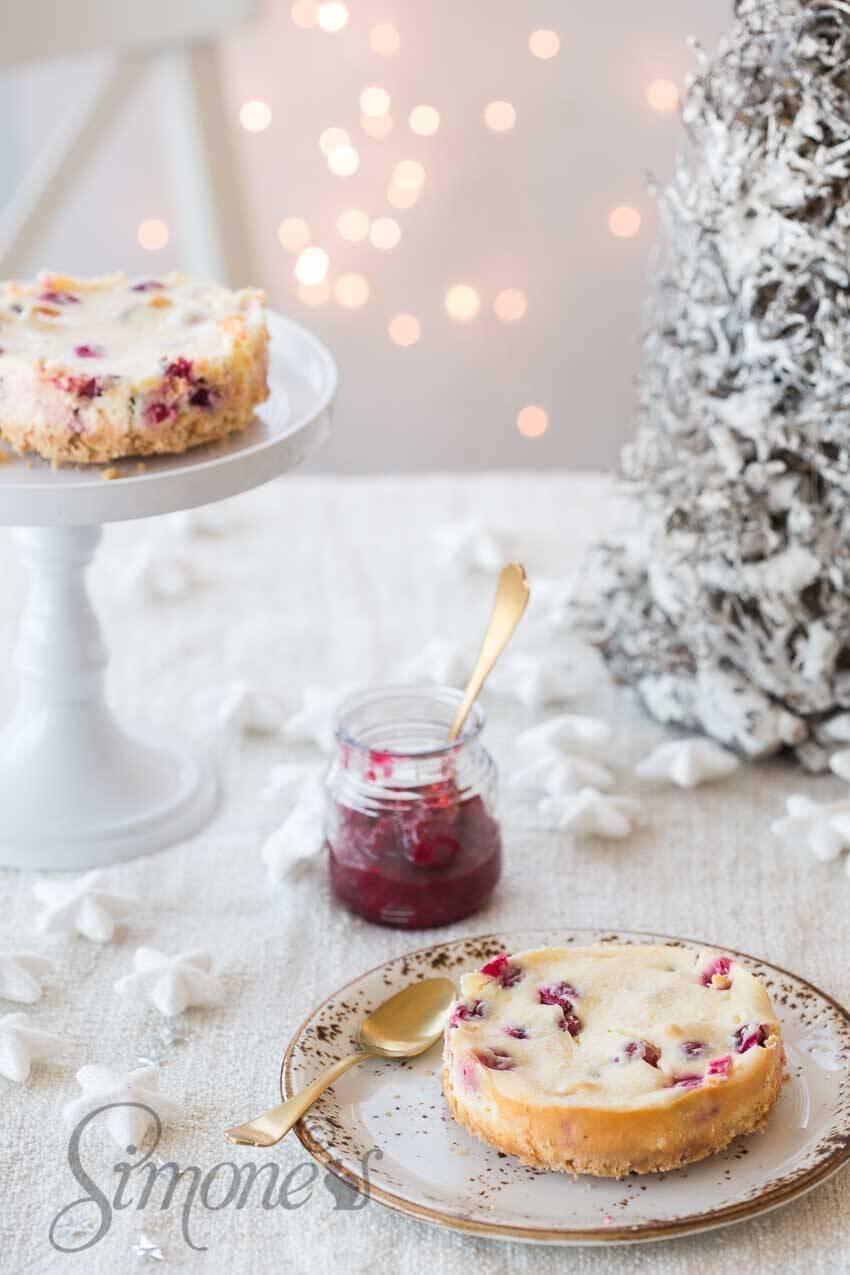 Glutenvrije cranberry cheesecake | simoneskitchen.nl