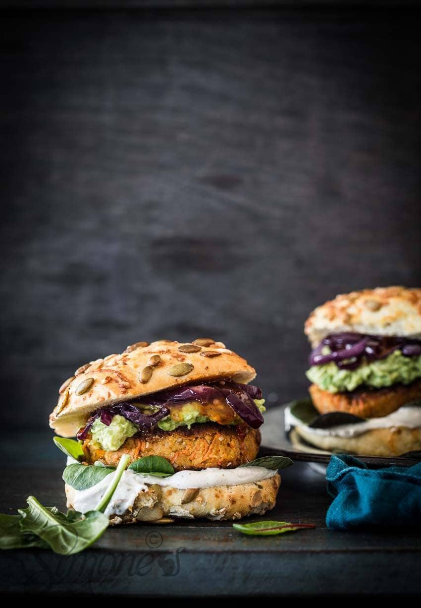 Kikkererwten wortel burger | simoneskitchen.nl