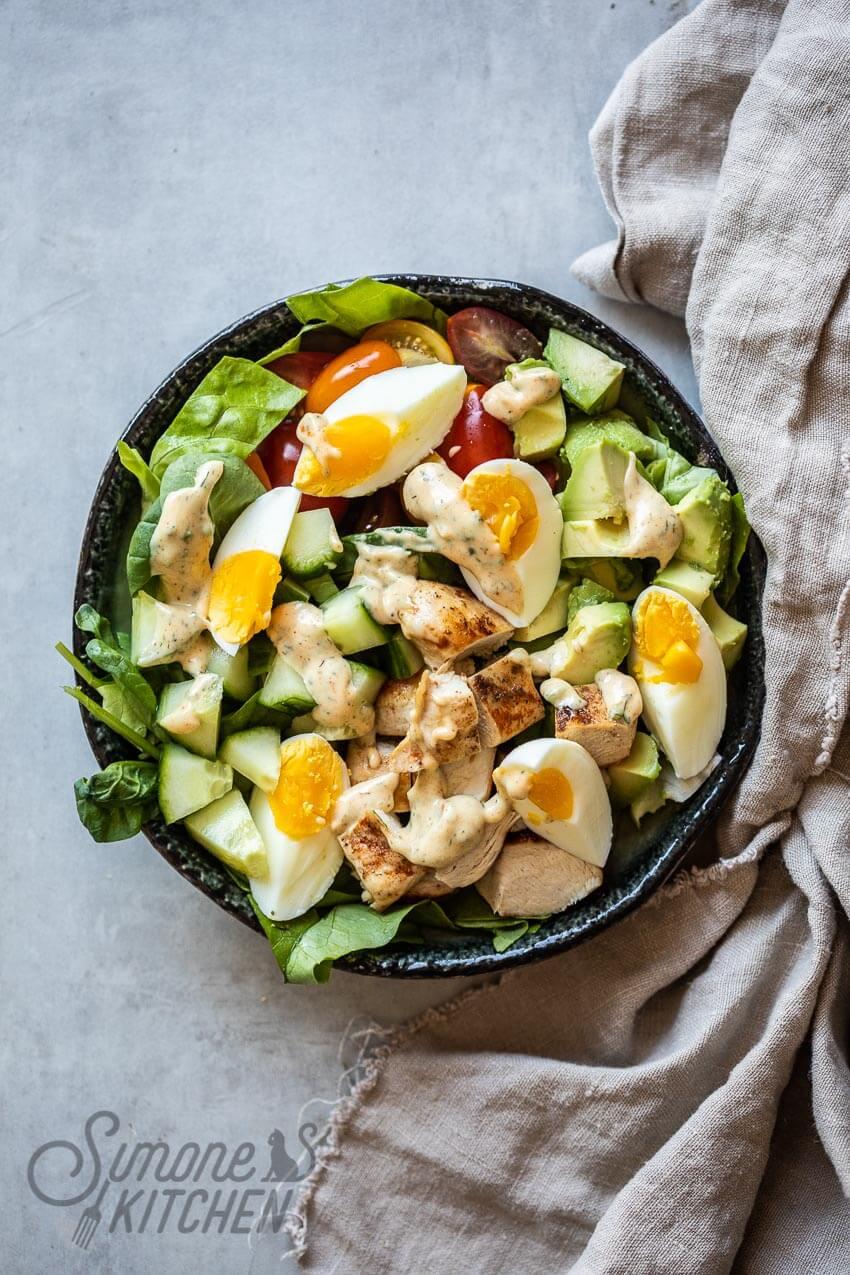 Hoe maak je een cobb salad | simoneskitchen.nl