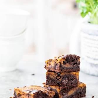 Pompoen chocola brownies | simoneskitchen.nl