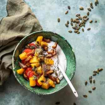 Kokosyoghurt bowl met fruit