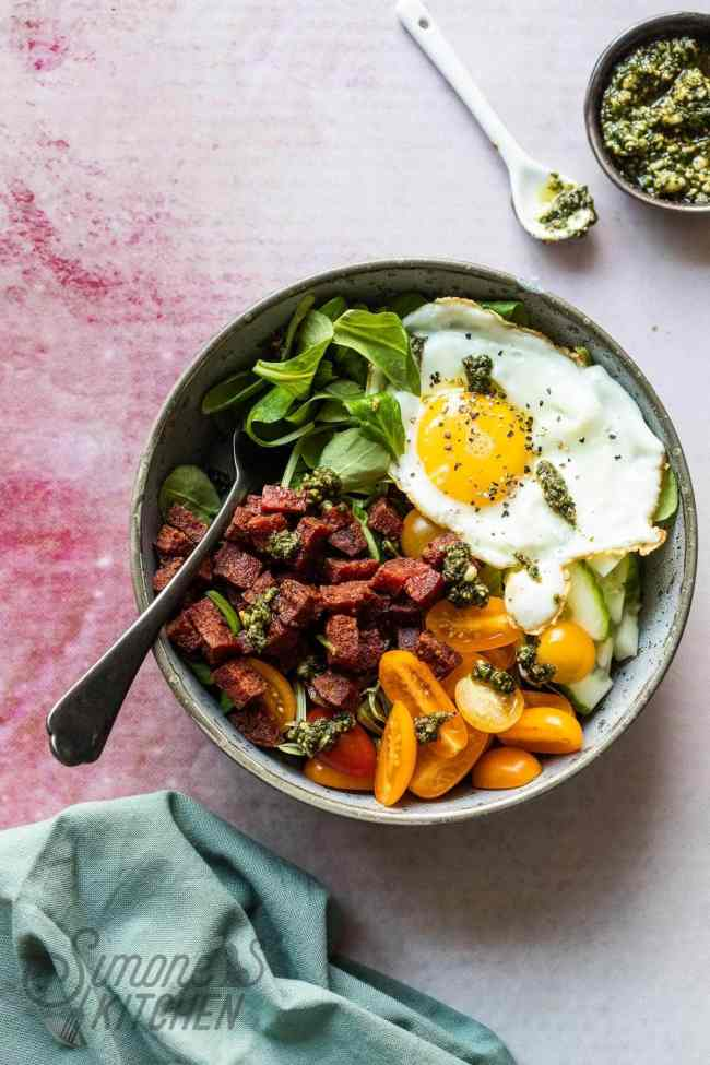 Makkelijk hartig ontbijt: chorizobowl