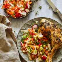 Griekse kip met pittige salade