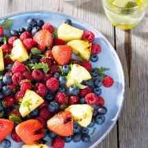 Gegrilde fruitsalade