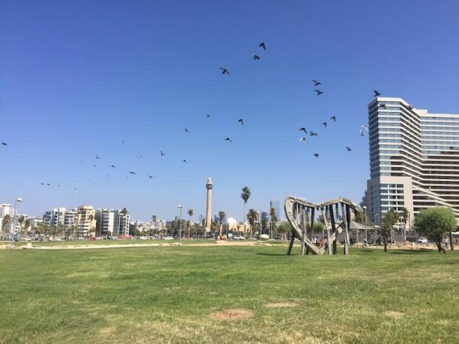Tel Aviv gezien vanaf de kust
